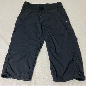 lululemon Unlined Dance Studio Crop Pants Slate Grey / Shadow Stripe Size 8